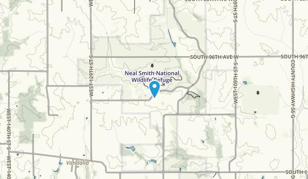 Neal Smith National Wildlife Refuge Map