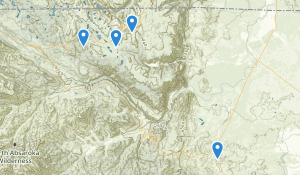 trail locations for High lakes Wilderness Study Area