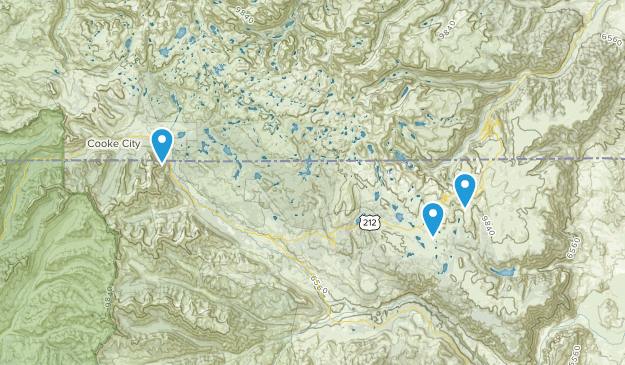 Shoshone National Forest Map