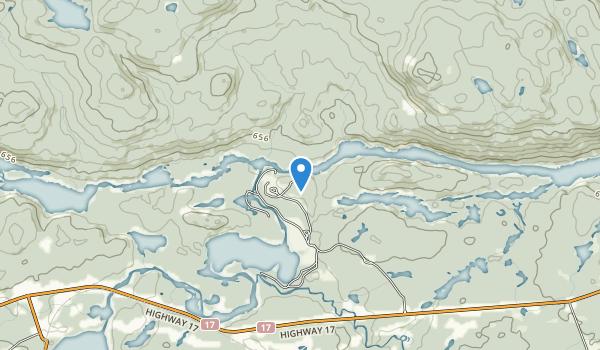 trail locations for Samuel de Champlain Provincial Park