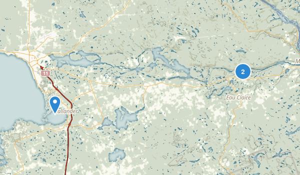 Samuel de Champlain Provincial Park Map