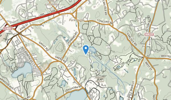 trail locations for Emmet Conservation Land