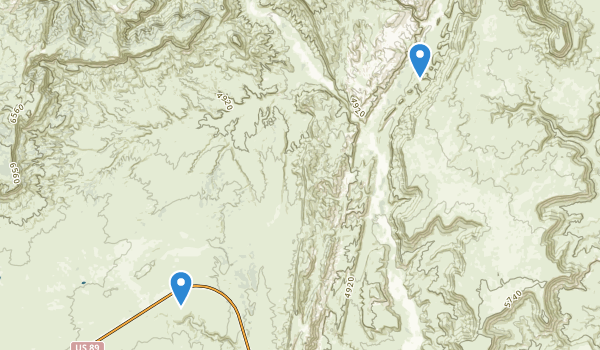 trail locations for The Cockscomb Wilderness Study Area