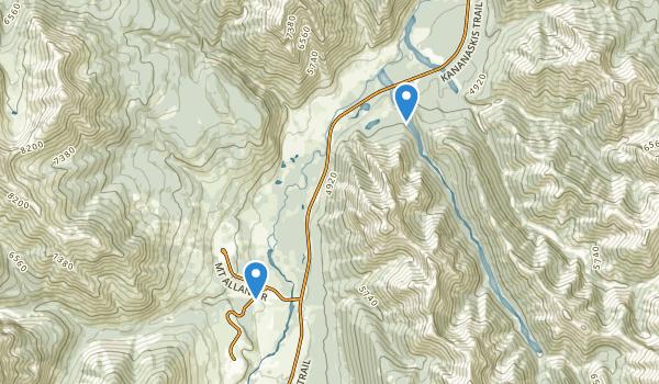 Evan-Thomas Provincial Recreation Area Map
