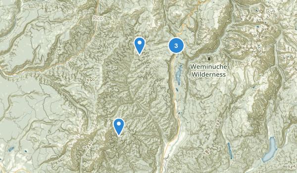 Hermosa Creek Wilderness Area Map