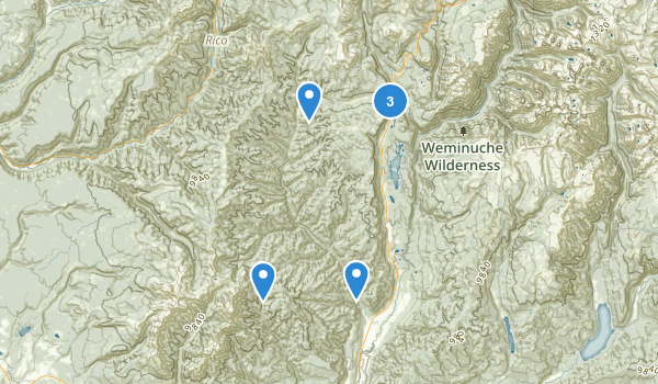 Hermosa Creek Wilderness Area Map