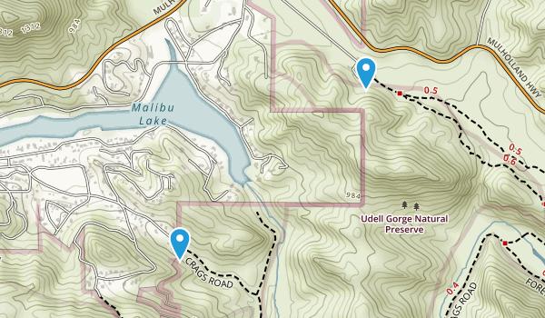 Udell Gorge Natural Preserve Map