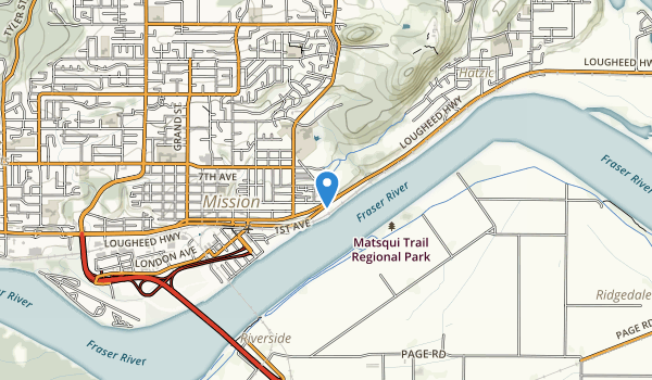 trail locations for Fraser River Heritage Park