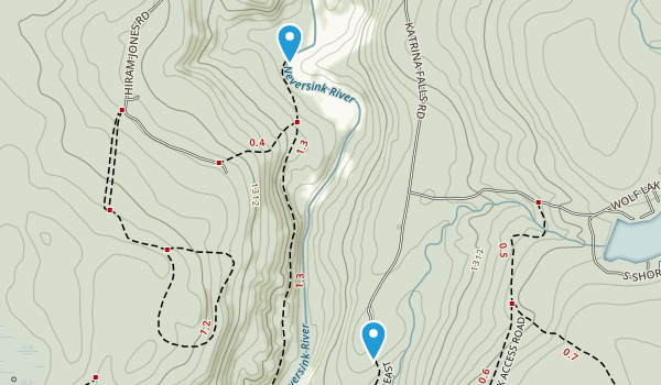 Wolf Brook Multiple Use Area Map