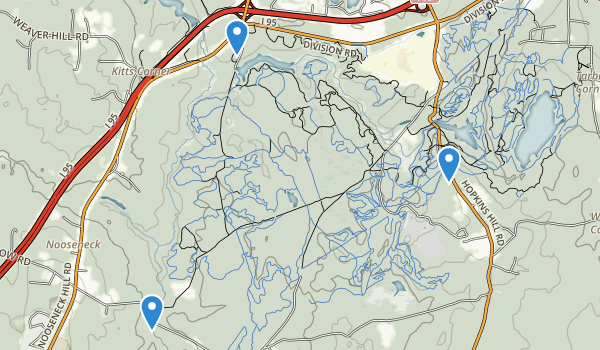 trail locations for Big River Management Area
