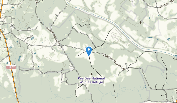 trail locations for Pee Dee National Wildlife Refuge