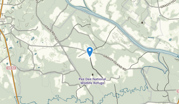 Pee Dee National Wildlife Refuge Map