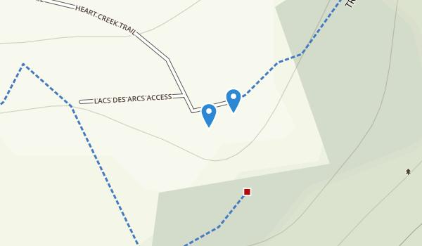 Heart Creek Provincial Recreation Area Map