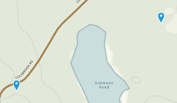 Simmons Mill Pond Management area Map