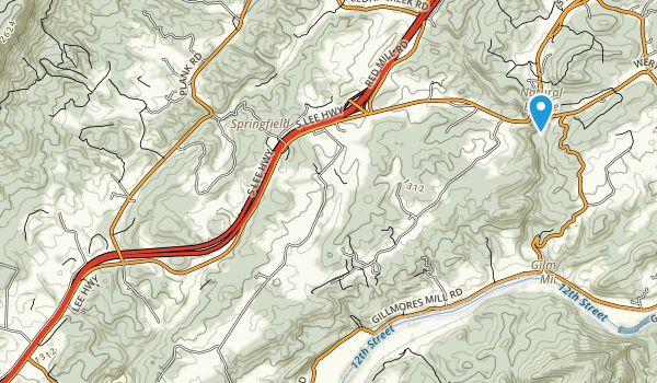Natural Bridge State Park Map