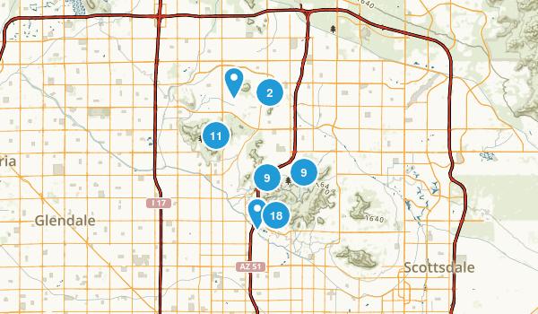 phoenix mountain preserve map