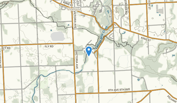 trail locations for Ball's Falls Conservation Area Trail