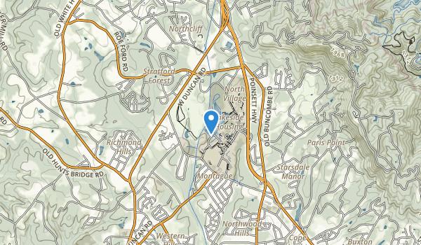 trail locations for Furman University