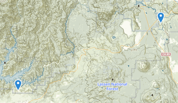 trail locations for Shasta National Forest