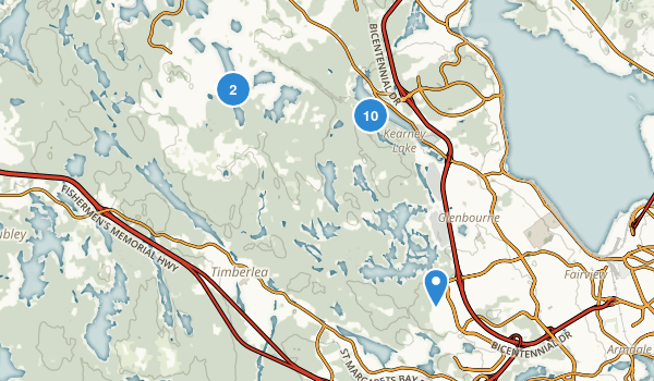 Blue Mountain/Birch Cove Lakes Wilderness Area Map