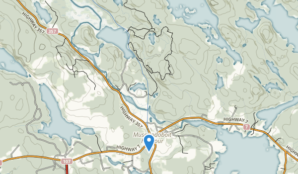 Ship Harbour-Long Lake Wilderness Area Map