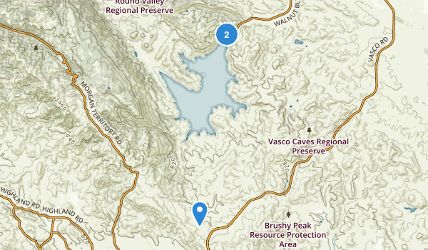Los Vaqueros Reservoir and Watershed Map