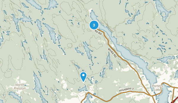 Waverley - Salmon River Long Lake Wilderness Area Map