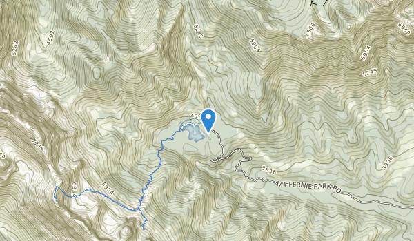 trail locations for Mount Fernie Provincial Park