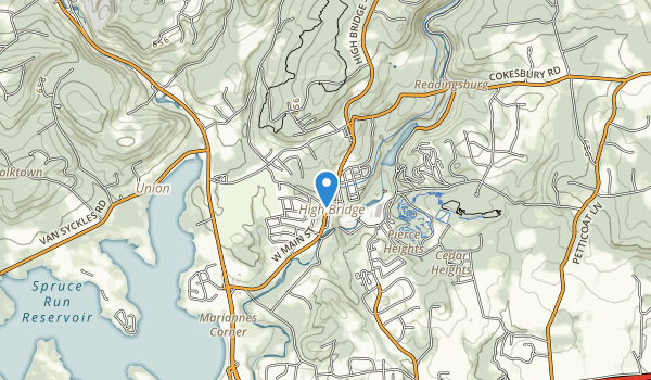 trail locations for Ken Lockwood Gorge Wildlife Management Area
