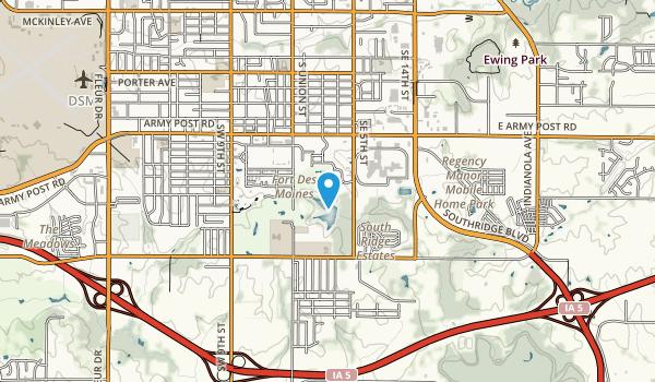 Fort Des Moines Park  Map