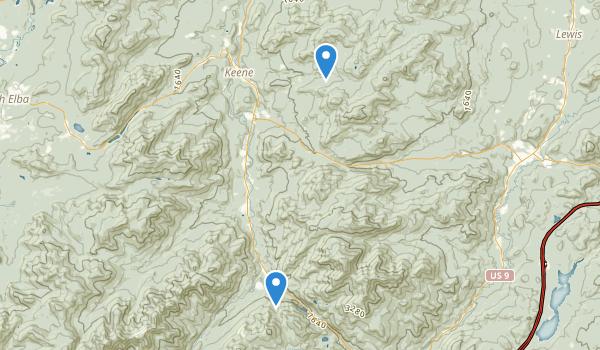 Hurricane Mountain Wilderness Map