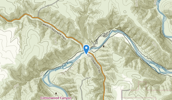 Cottonwood Canyon State Park Map