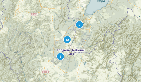 Tongariro National Park Map