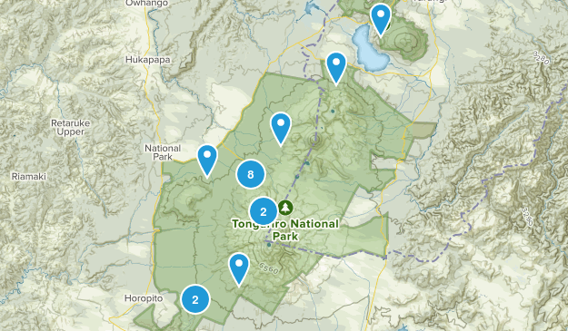 Tongariro National Park Map