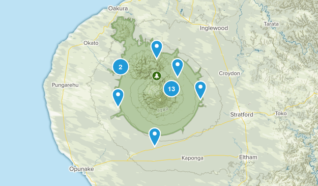Egmont National Park Map