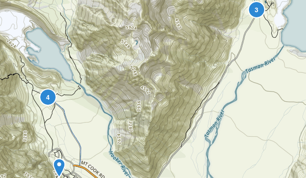 Mount Cook National Park Map