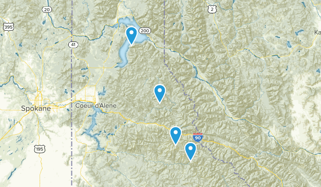 Idaho Panhandle National Forest Map