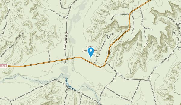 Fort Lancaster State Park Map