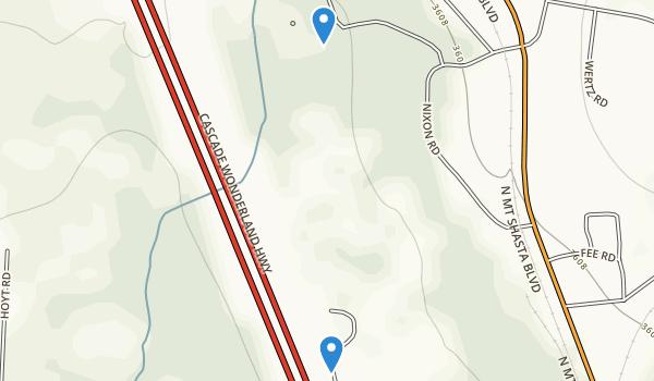 Mount Shasta City Park Map