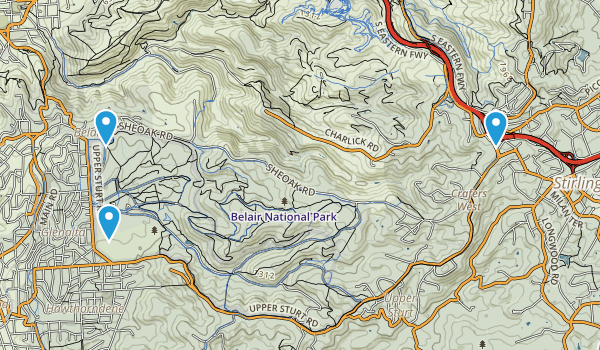 Belair National Park Map