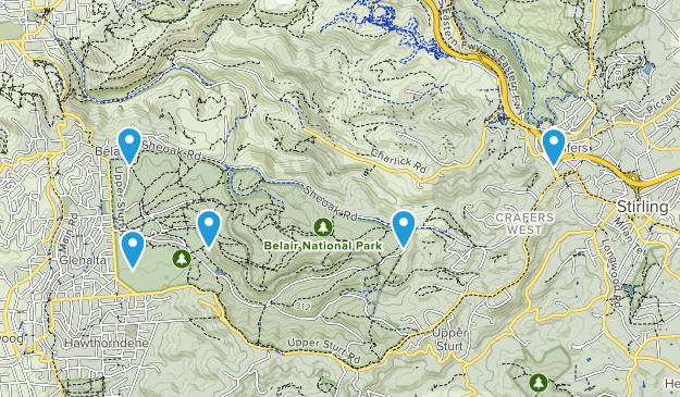 Belair National Park Map