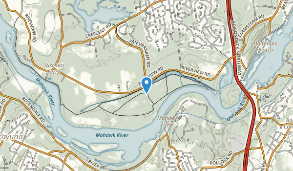Vischer Ferry Nature and Historic Preserve Map