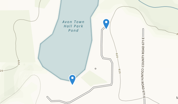 Avon Town Hall Park Map
