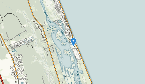 Gamble Rogers Memorial State Recreation Area at Flagler Beach Map