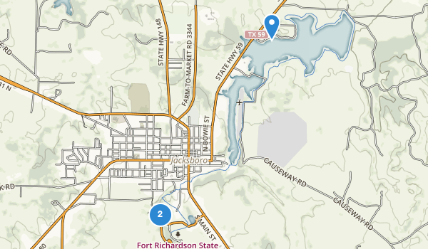trail locations for Fort Richardson State Park, Historic Site & Lost Creek Reservoir State Trailway