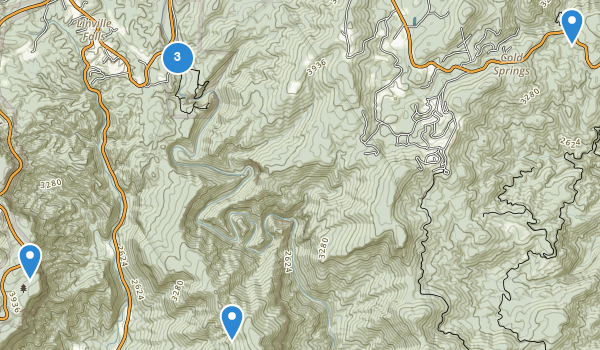 trail locations for Linville Falls