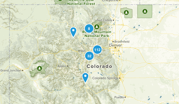 Arapaho National Forest Map