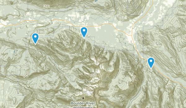 Boulder River Wilderness Map