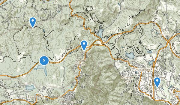 trail locations for Julian Price Memorial Park
