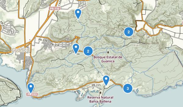 Bosque Estatal De Guanica Map
